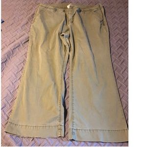 Old Navy boot leg chinos